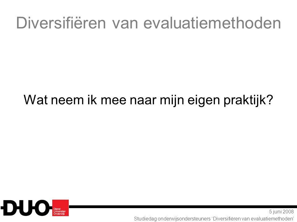 Diversifiëren van evaluatiemethoden