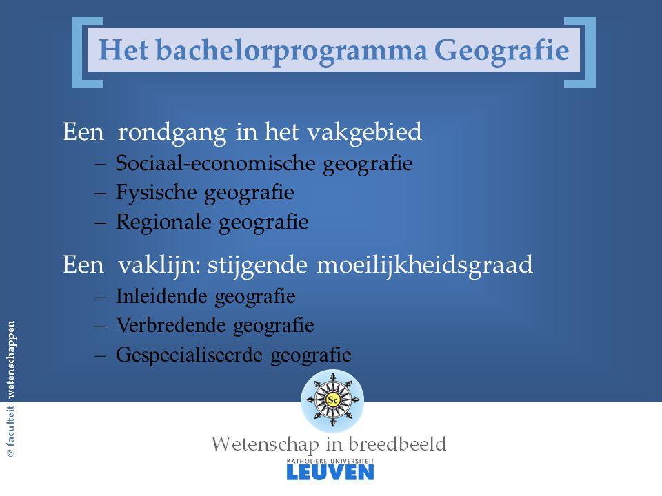 Het bachelorprogramma Geografie