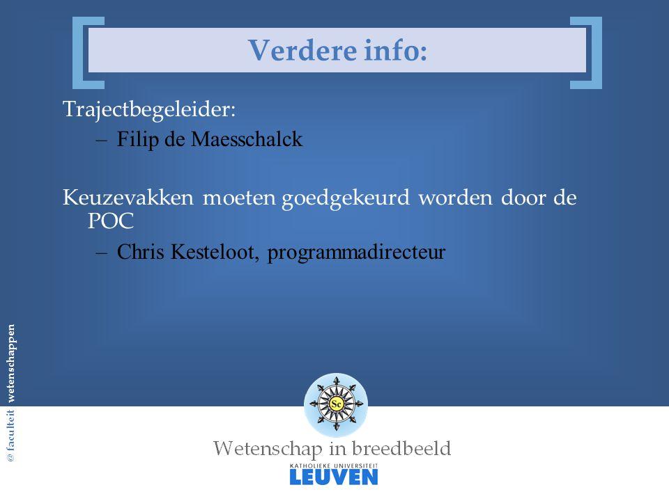 Verdere info: Trajectbegeleider: Filip de Maesschalck