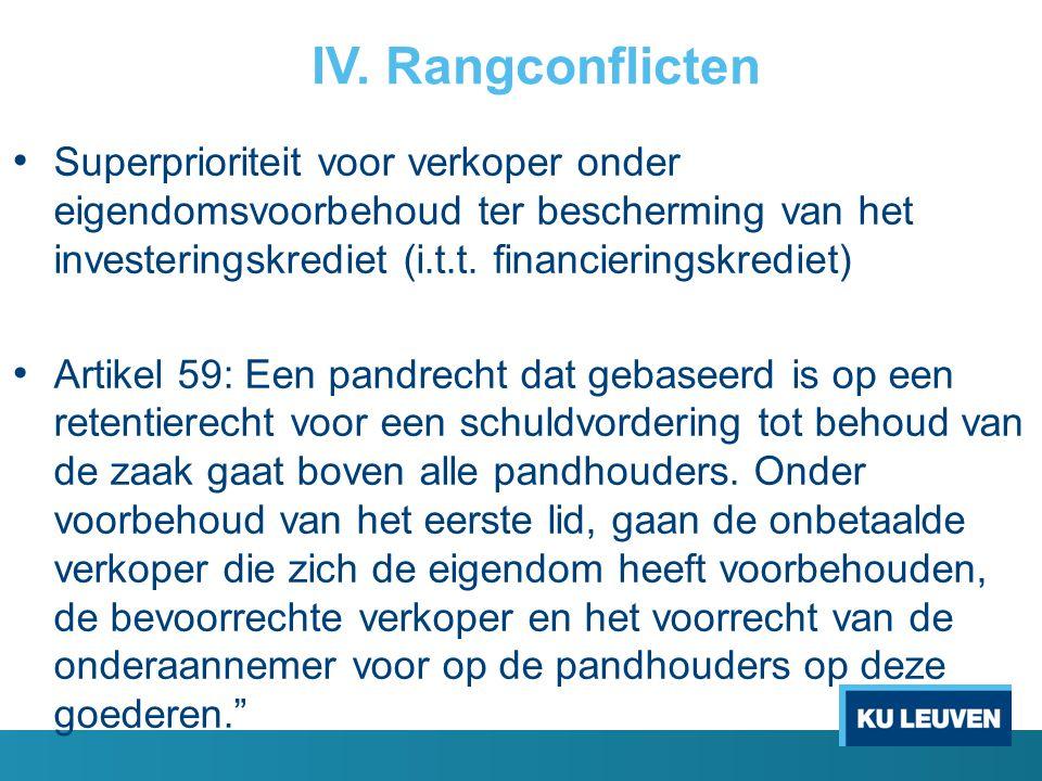 IV. Rangconflicten