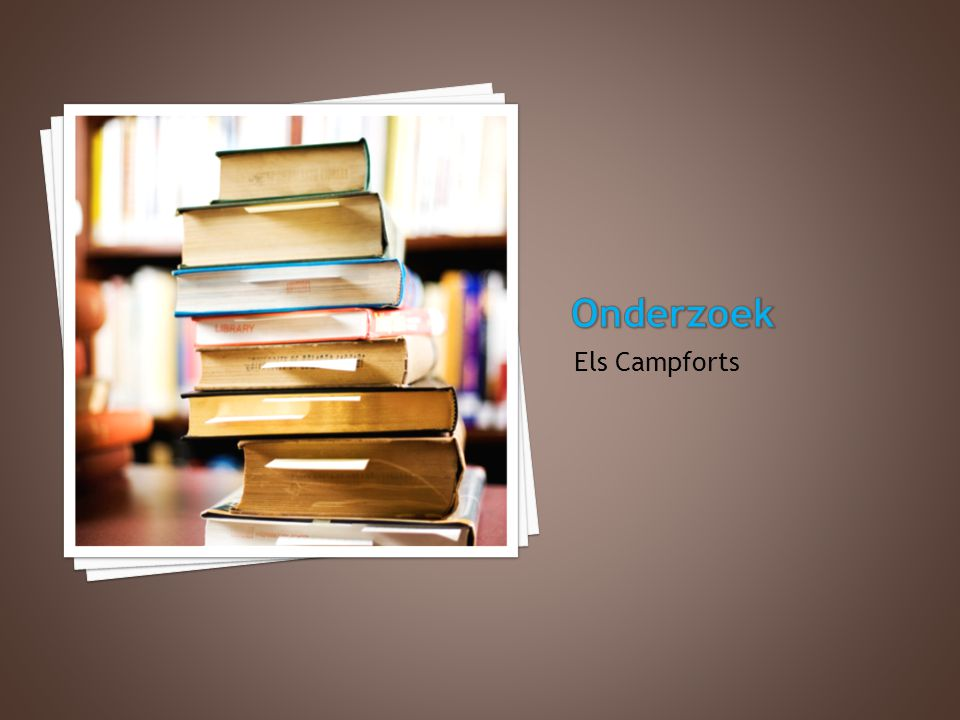 Onderzoek Els Campforts