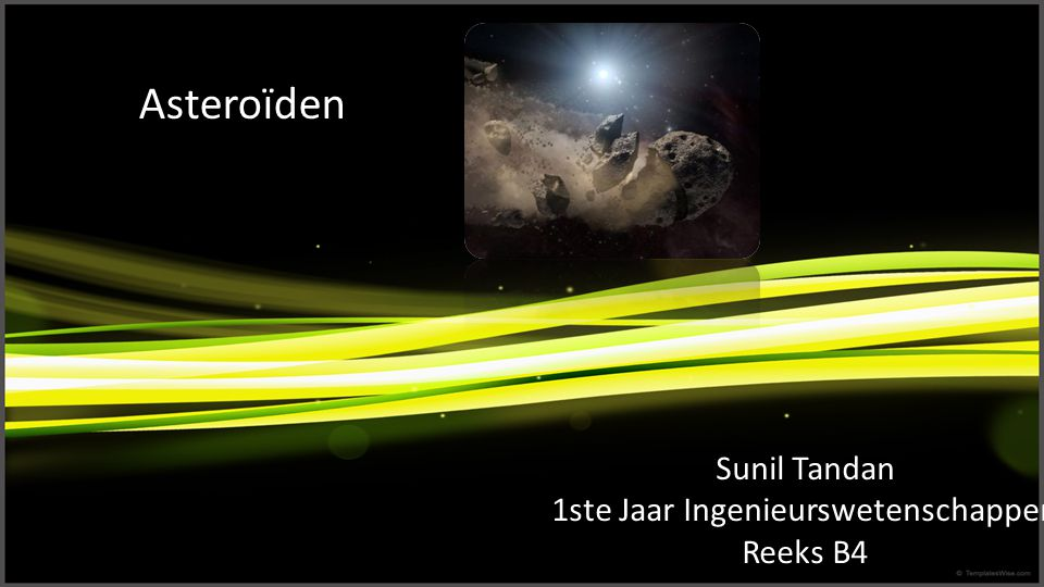 Sunil Tandan 1ste Jaar Ingenieurswetenschappen Reeks B4