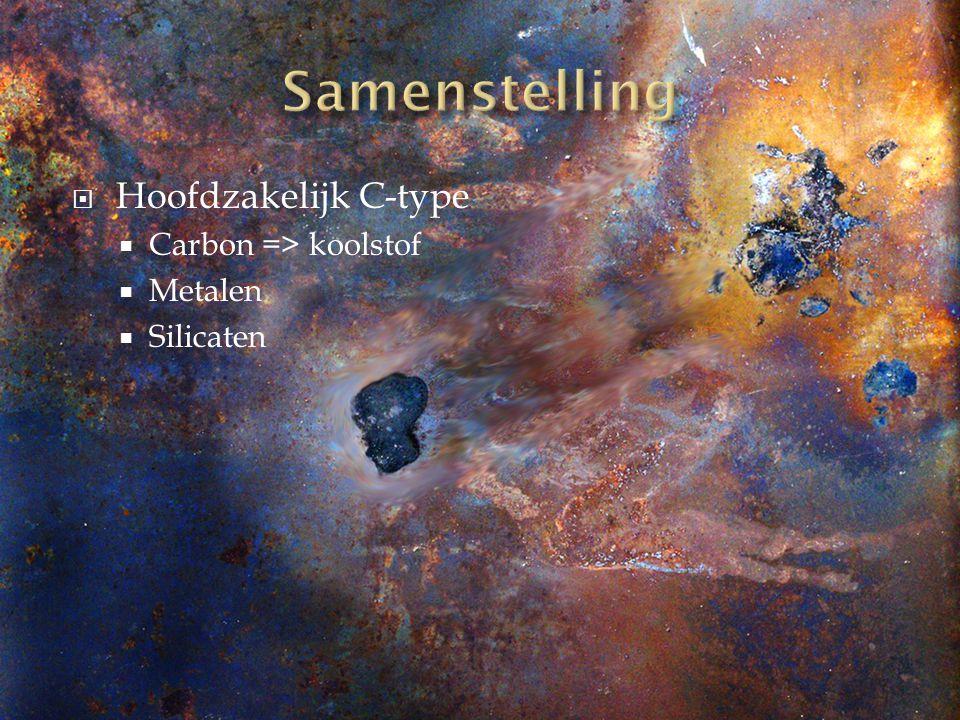 Samenstelling Hoofdzakelijk C-type Carbon => koolstof Metalen