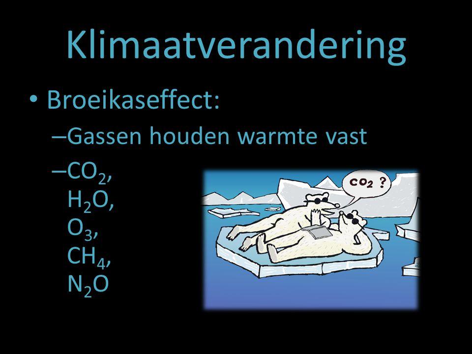 Klimaatverandering Broeikaseffect: Gassen houden warmte vast