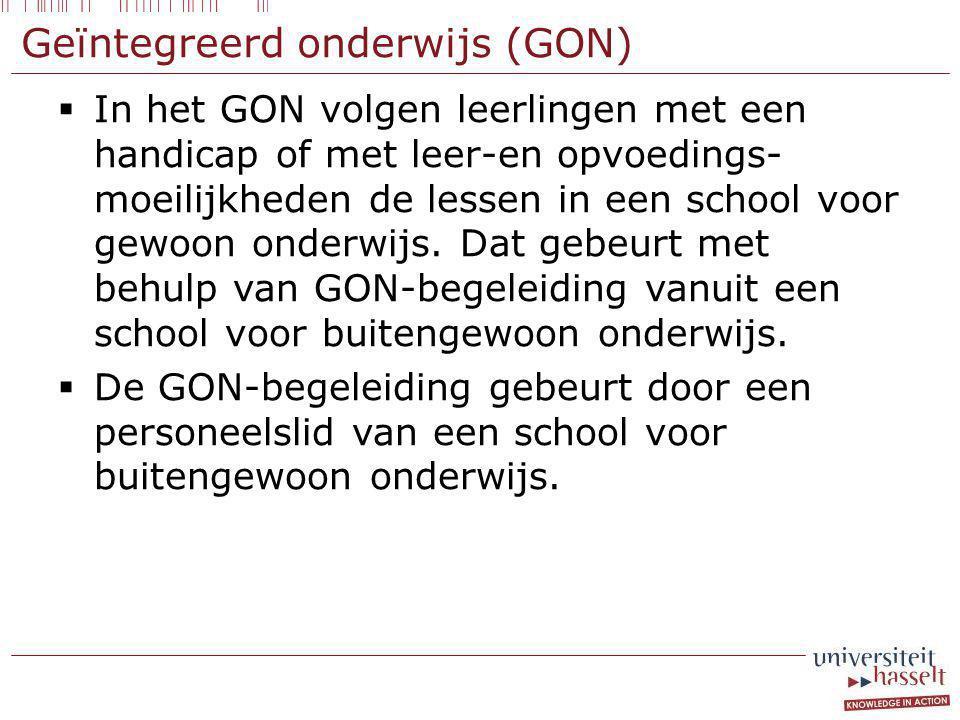 Geïntegreerd onderwijs (GON)