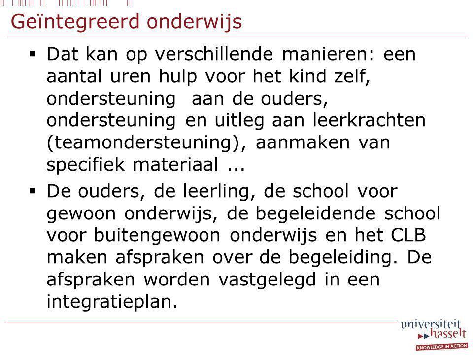 Geïntegreerd onderwijs