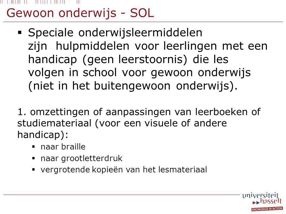 Gewoon onderwijs - SOL