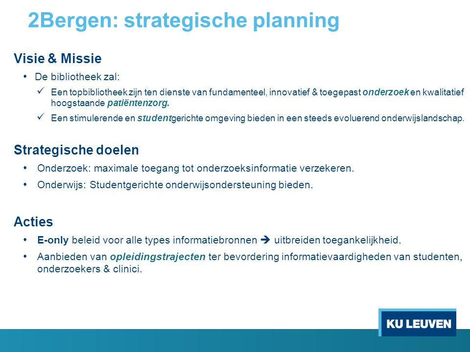 2Bergen: strategische planning