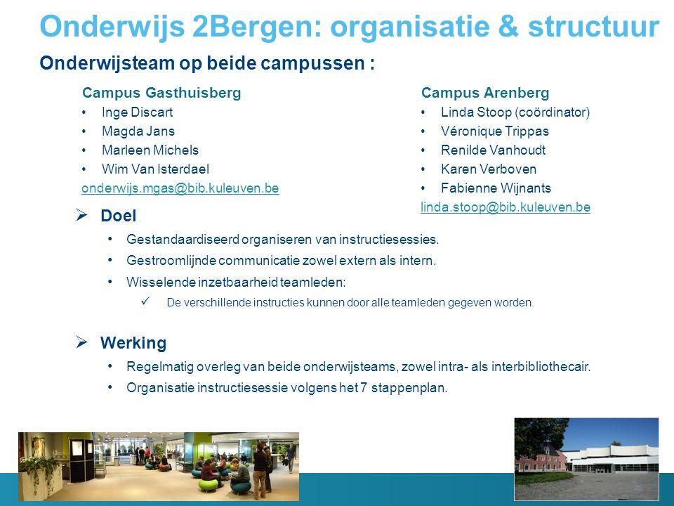 Onderwijs 2Bergen: organisatie & structuur
