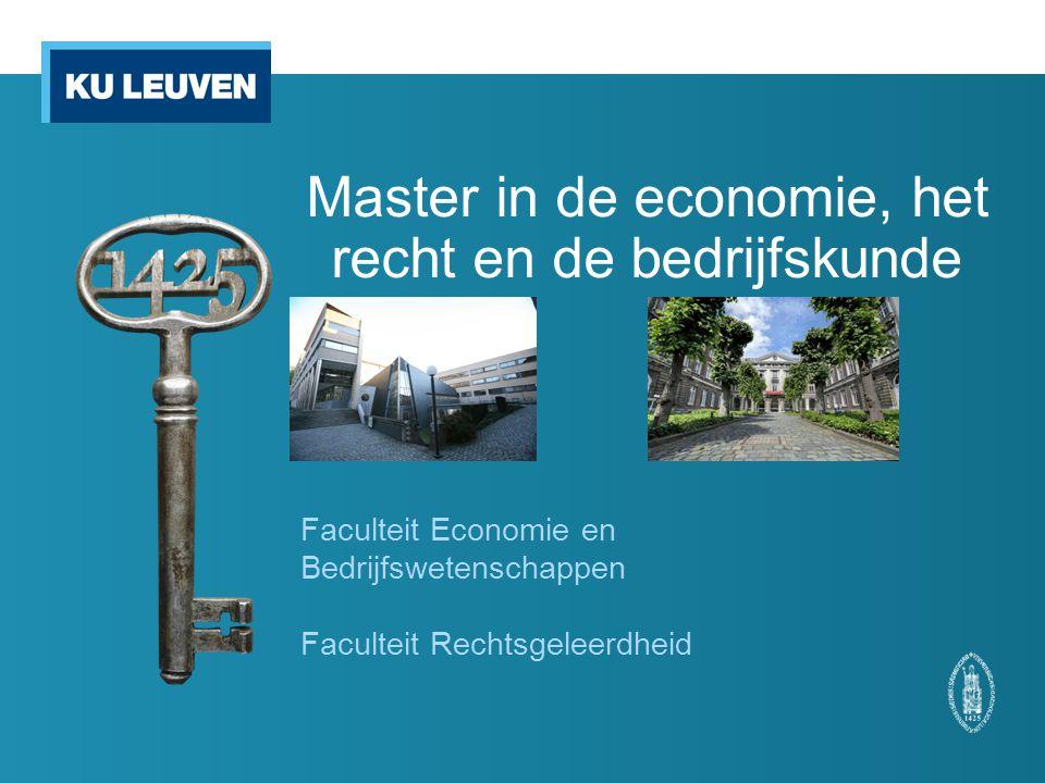 Master in de economie, het recht en de bedrijfskunde