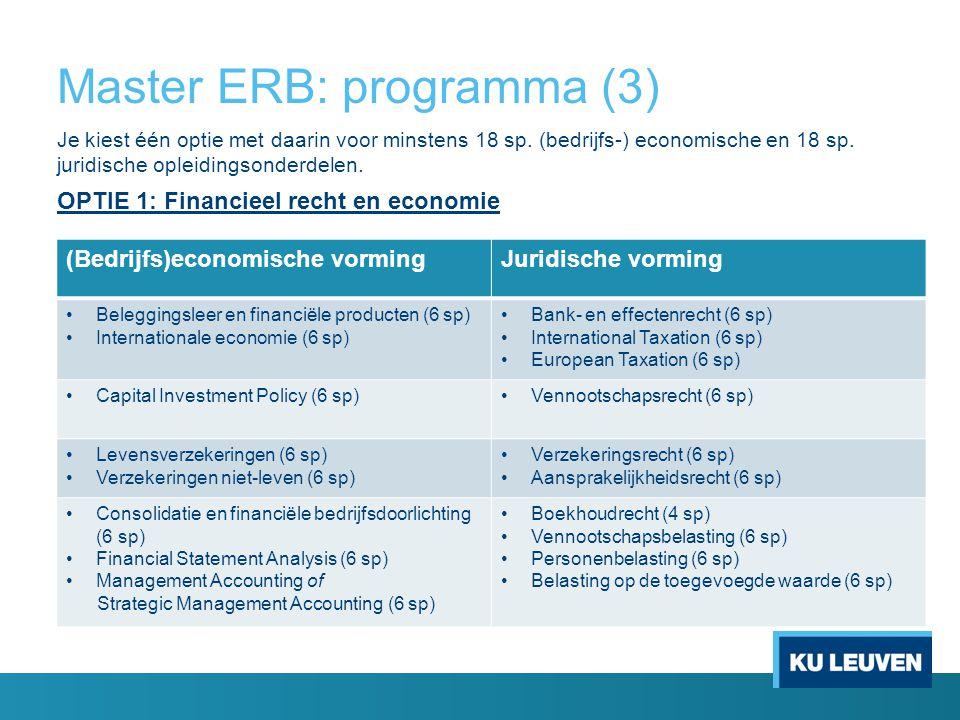 Master ERB: programma (3)