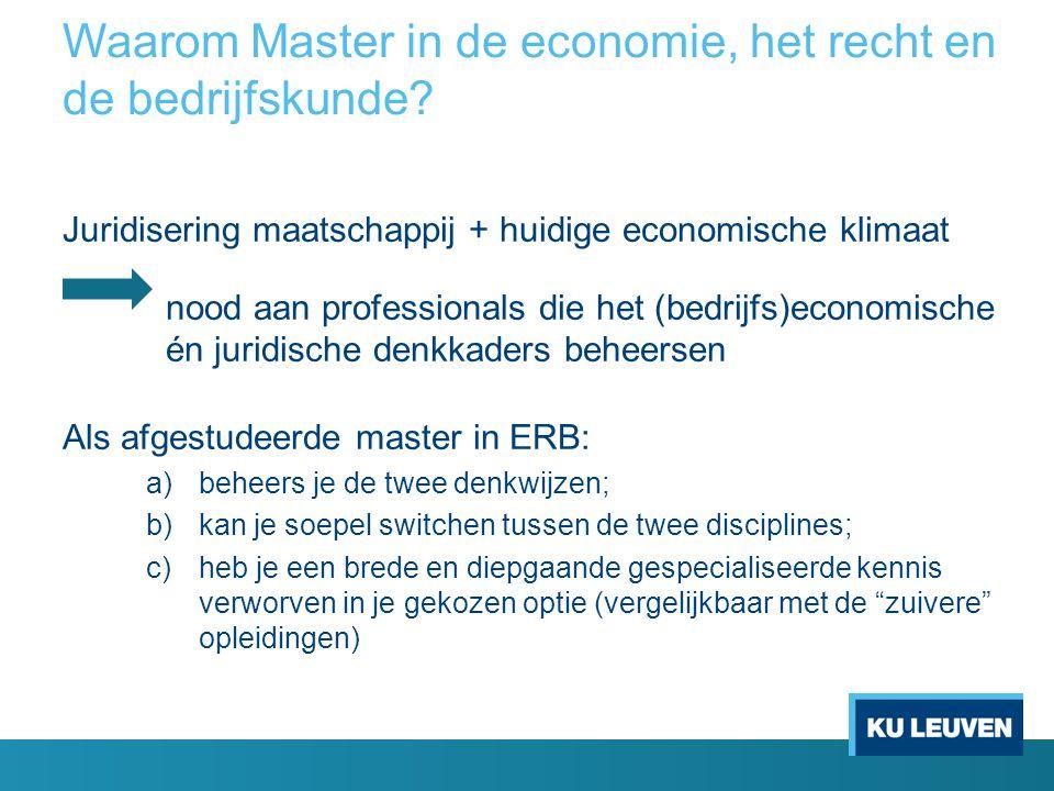Waarom Master in de economie, het recht en de bedrijfskunde