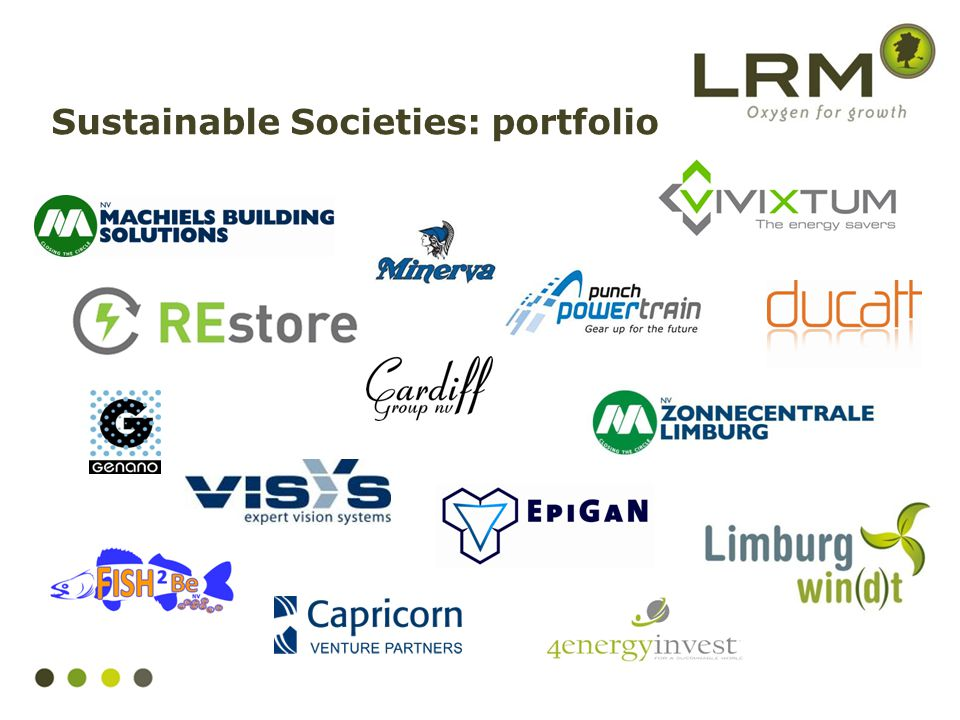 Sustainable Societies: portfolio