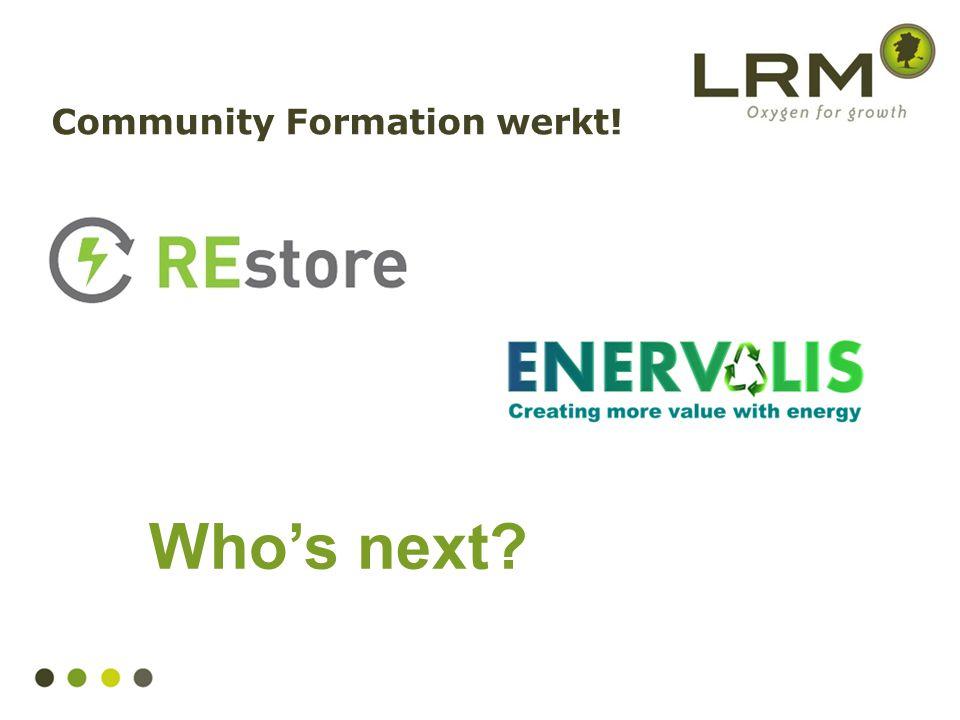 Community Formation werkt!