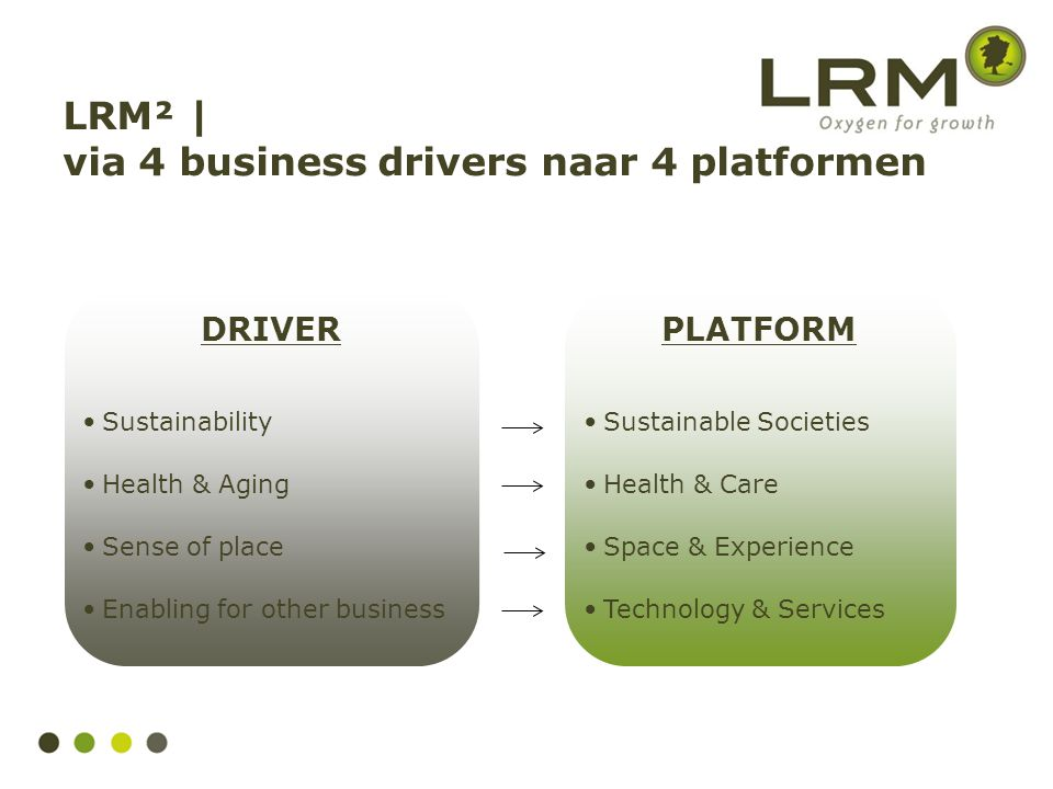 LRM² | via 4 business drivers naar 4 platformen