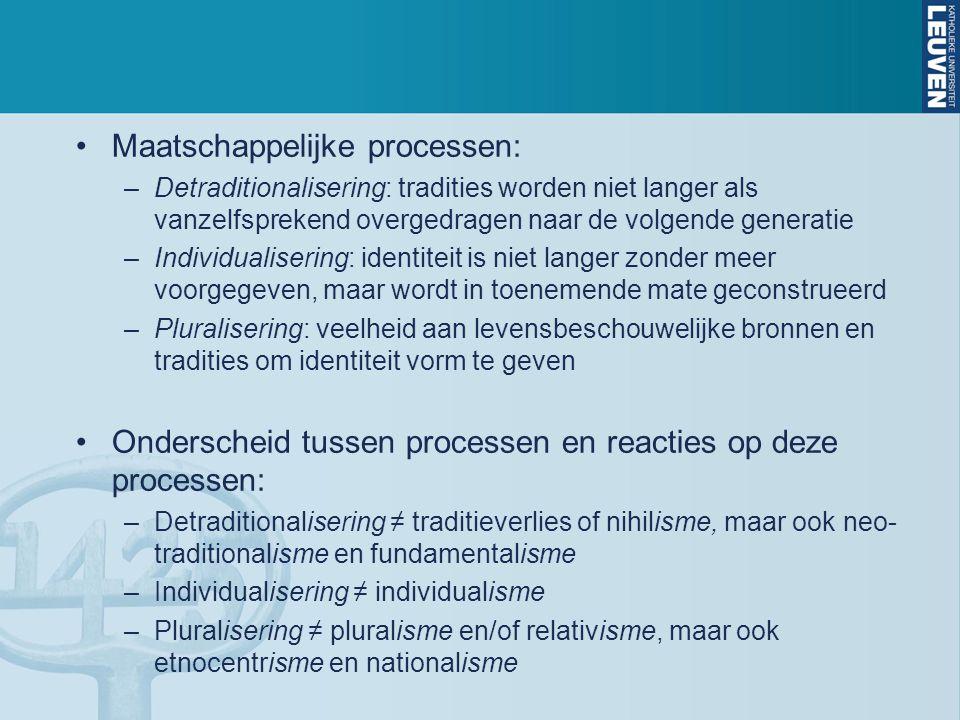 Maatschappelijke processen: