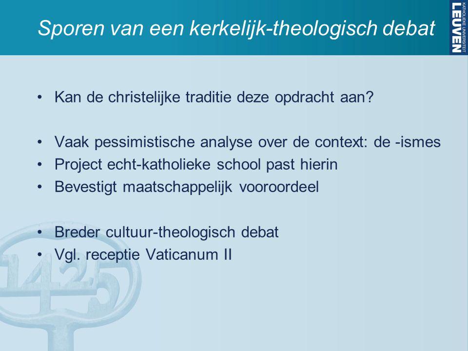 Sporen van een kerkelijk-theologisch debat