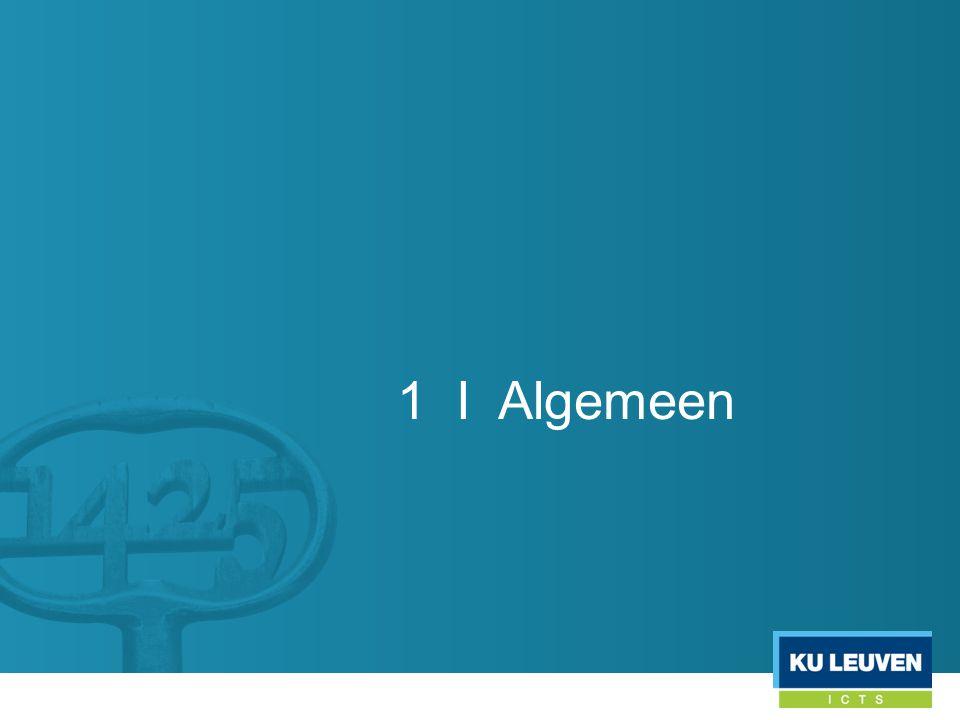 1 I Algemeen