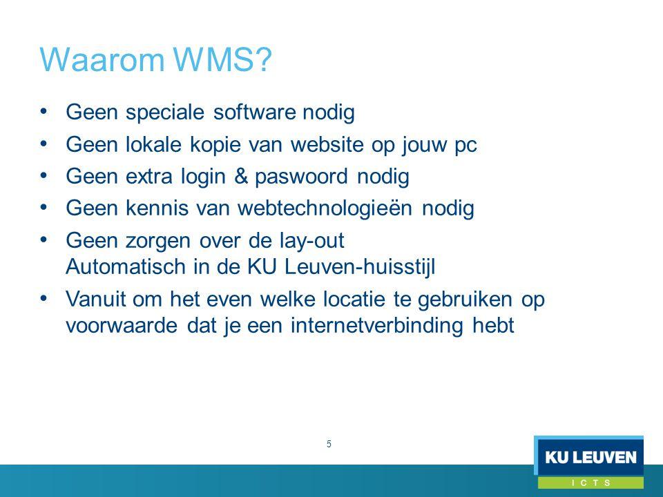 Waarom WMS Geen speciale software nodig