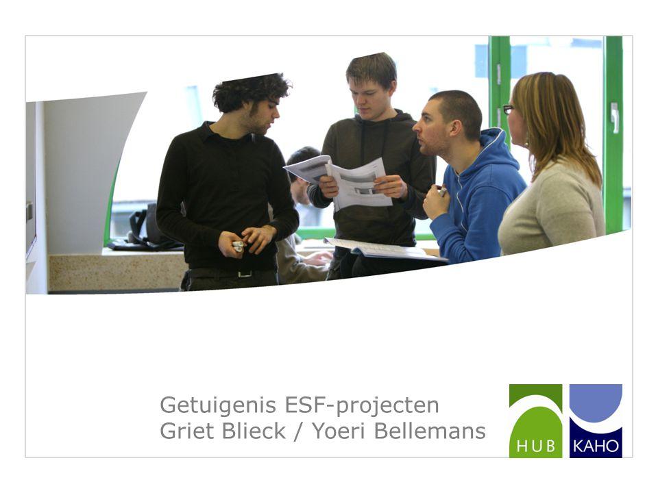 Getuigenis ESF-projecten Griet Blieck / Yoeri Bellemans
