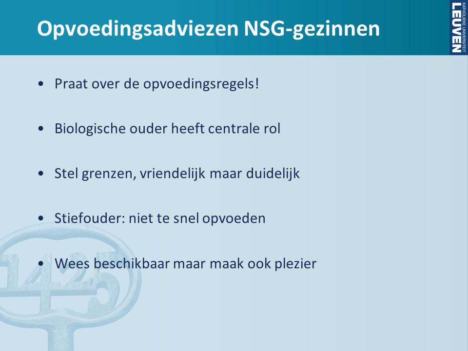 Opvoedingsadviezen NSG-gezinnen