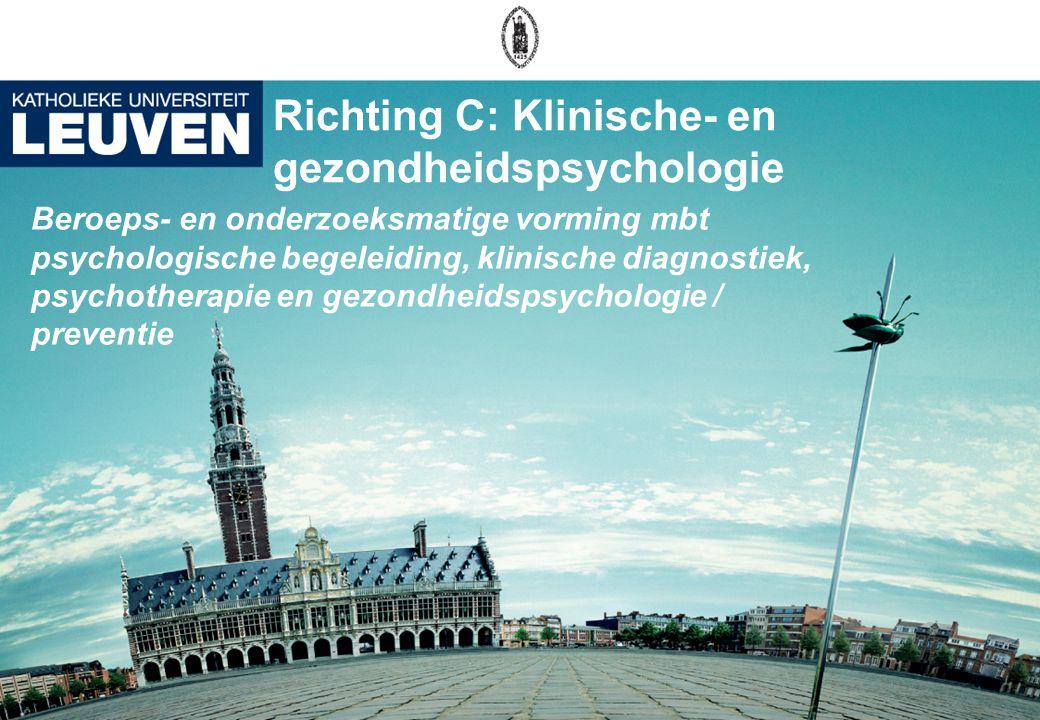Richting C: Klinische- en gezondheidspsychologie