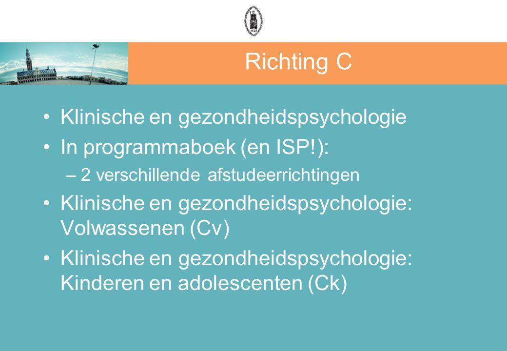 Richting C Klinische en gezondheidspsychologie