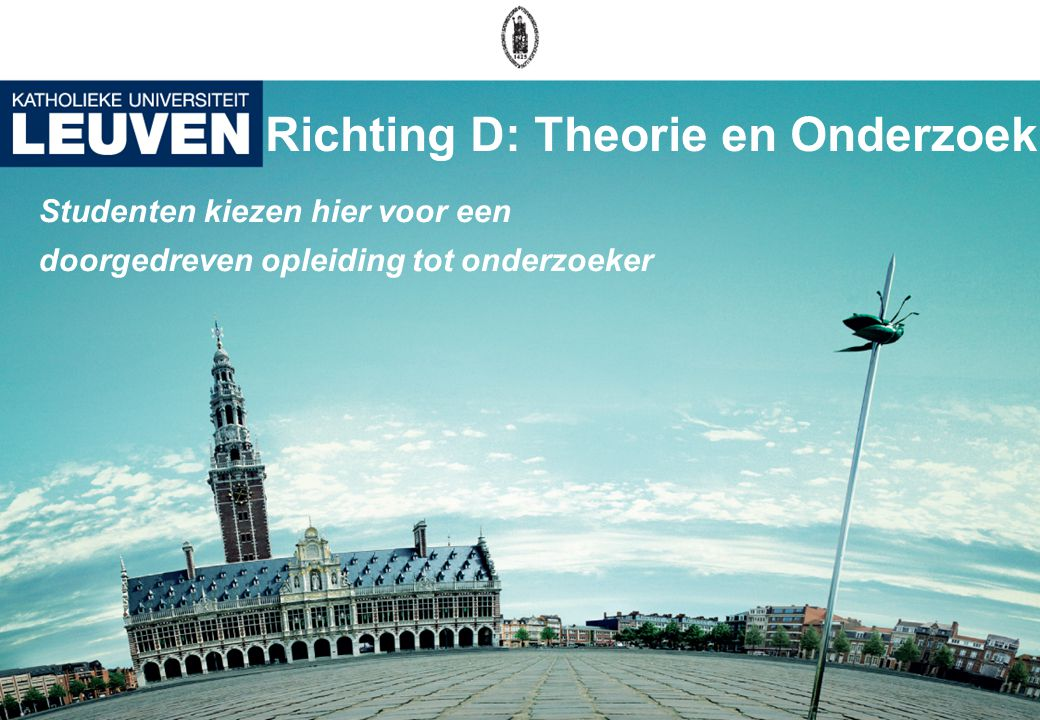 Richting D: Theorie en Onderzoek