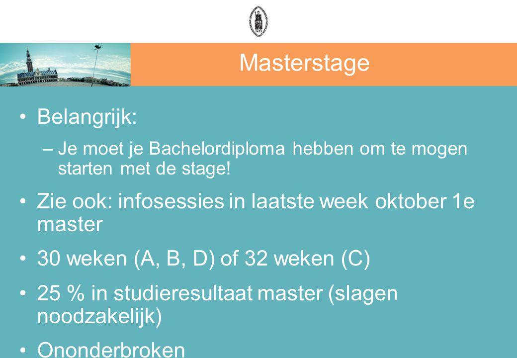 Masterstage Belangrijk: