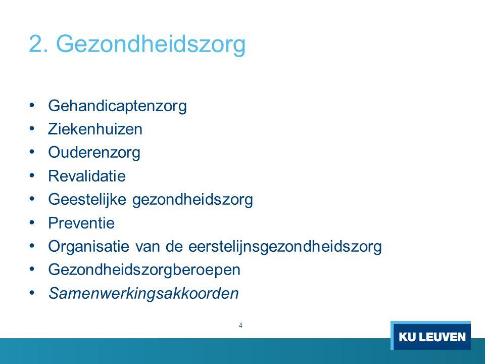 2. Gezondheidszorg Gehandicaptenzorg Ziekenhuizen Ouderenzorg