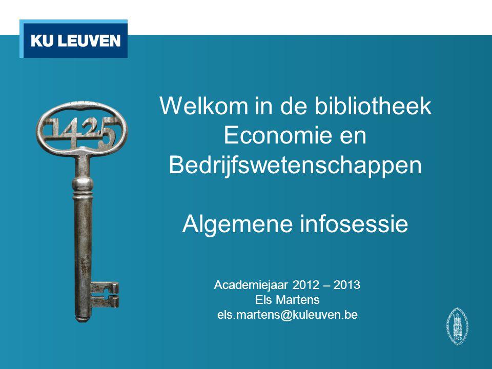 Academiejaar 2012 – 2013 Els Martens els.martens@kuleuven.be