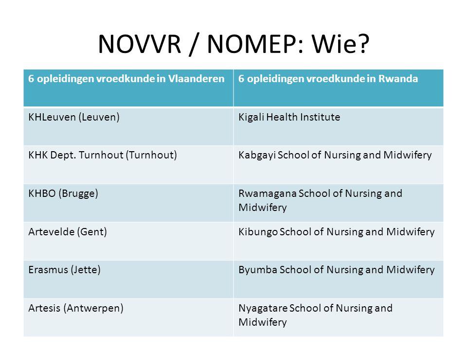 NOVVR / NOMEP: Wie 6 opleidingen vroedkunde in Vlaanderen