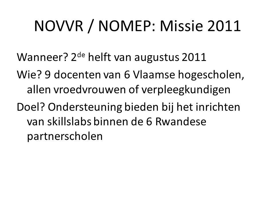 NOVVR / NOMEP: Missie 2011