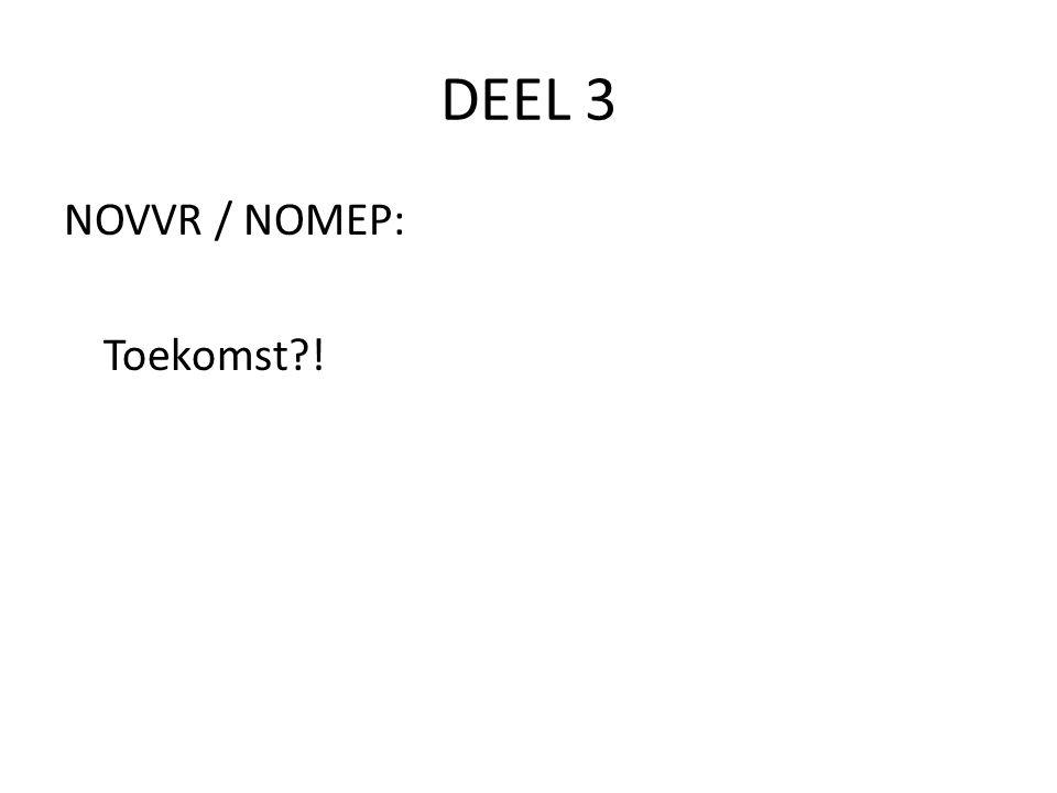 DEEL 3 NOVVR / NOMEP: Toekomst !