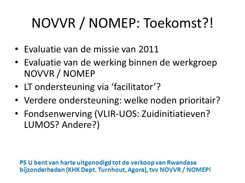 NOVVR / NOMEP: Toekomst !