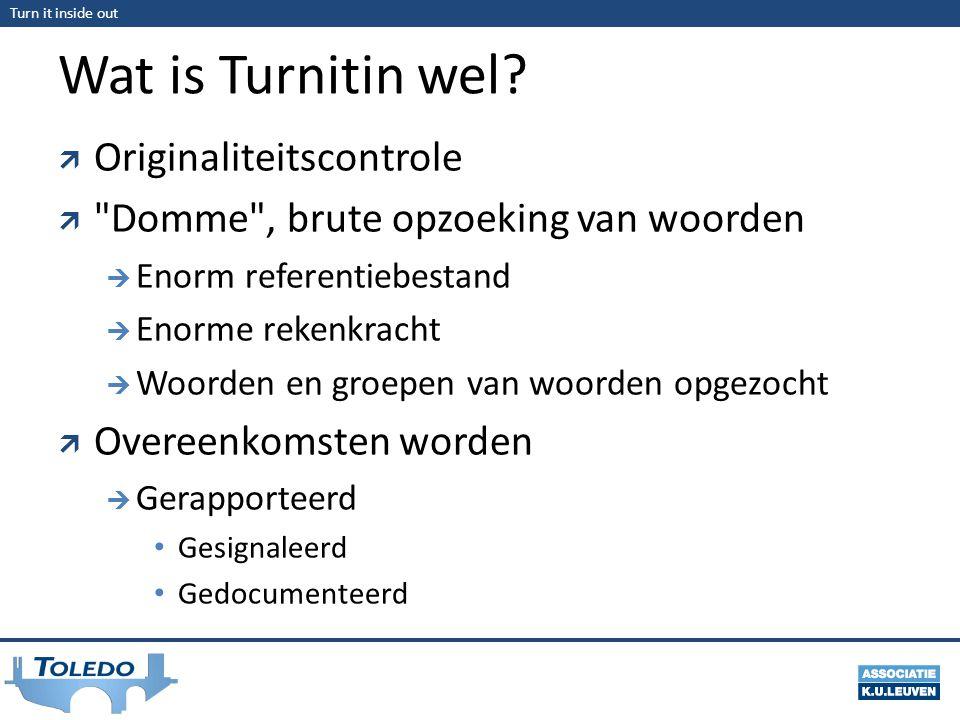 Wat is Turnitin wel Originaliteitscontrole
