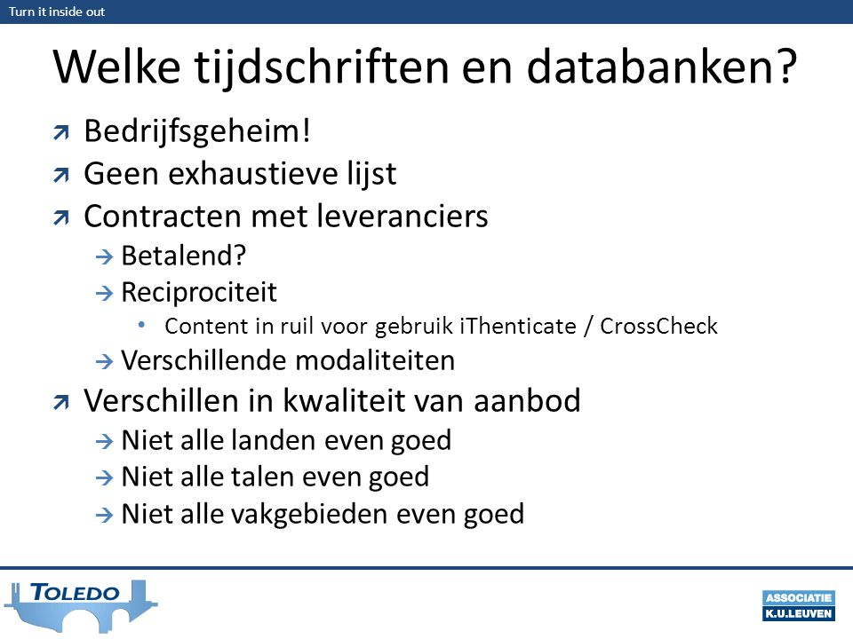 Welke tijdschriften en databanken