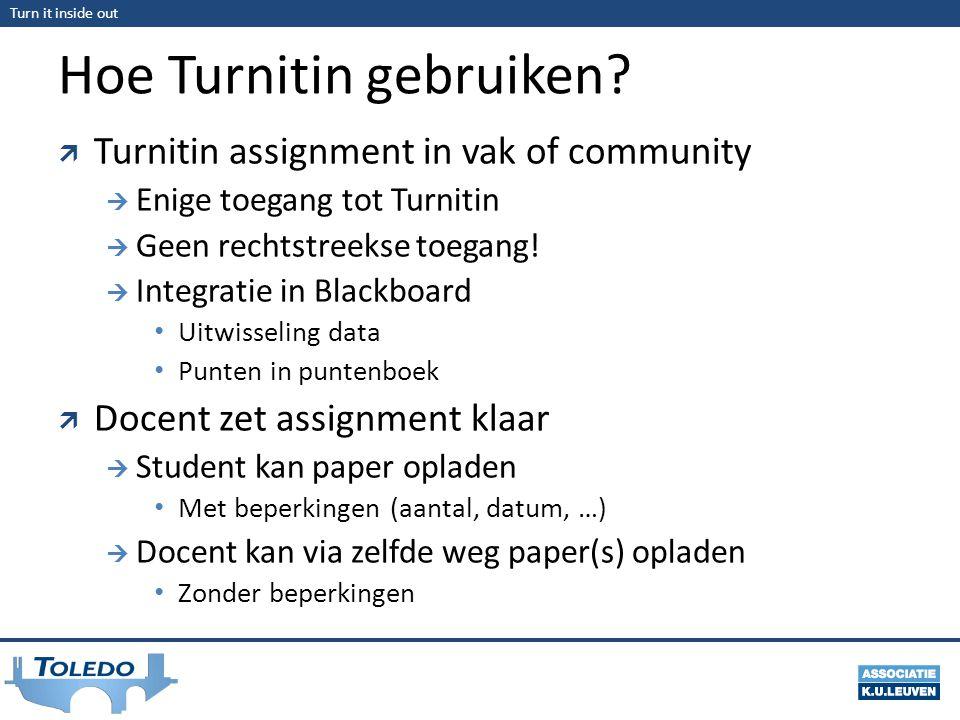 Hoe Turnitin gebruiken
