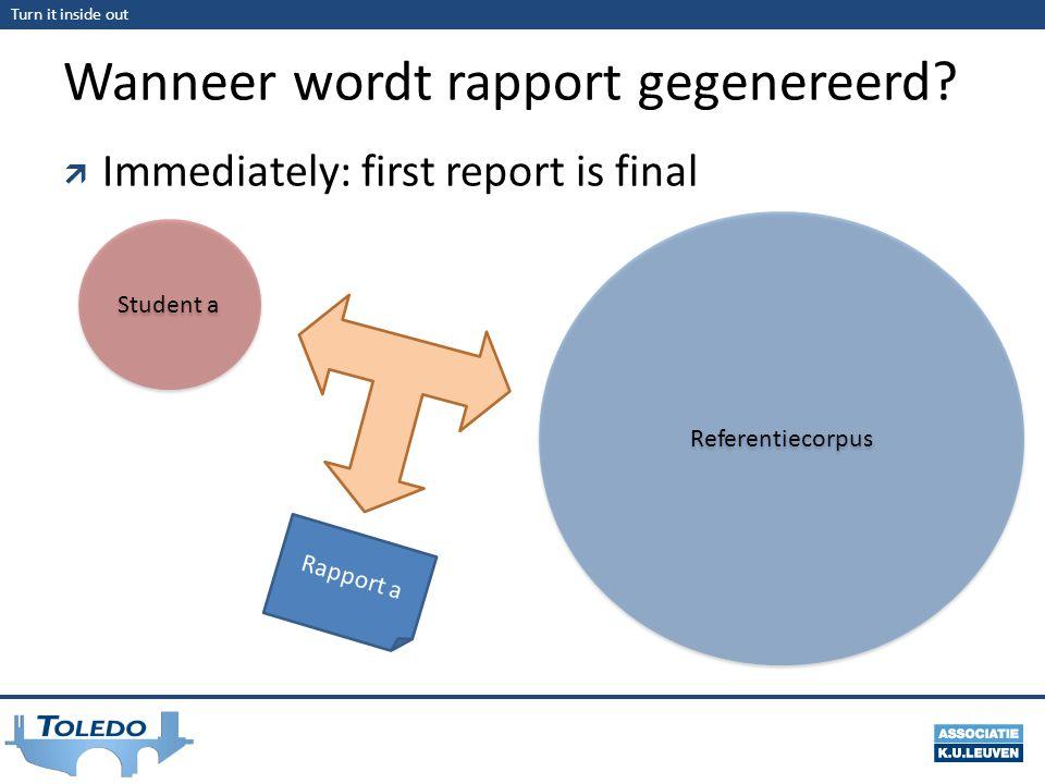 Wanneer wordt rapport gegenereerd