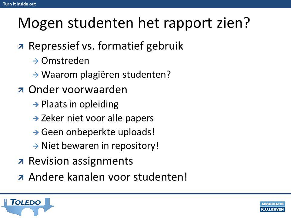 Mogen studenten het rapport zien