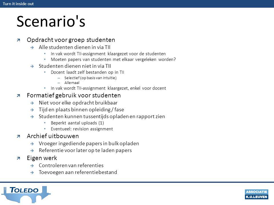 Scenario s Opdracht voor groep studenten