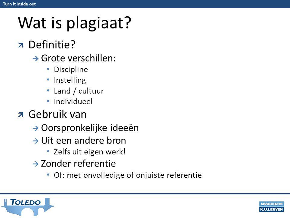Wat is plagiaat Definitie Gebruik van Grote verschillen: