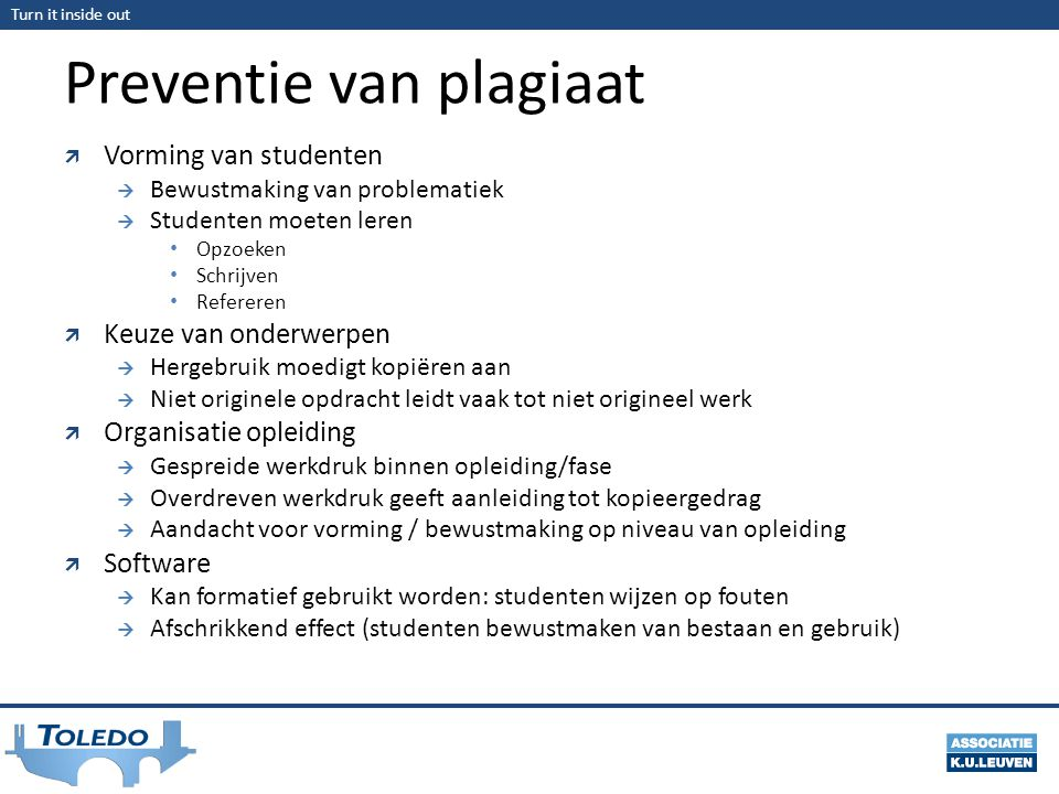 Preventie van plagiaat
