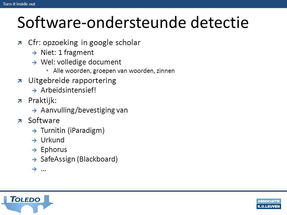 Software-ondersteunde detectie