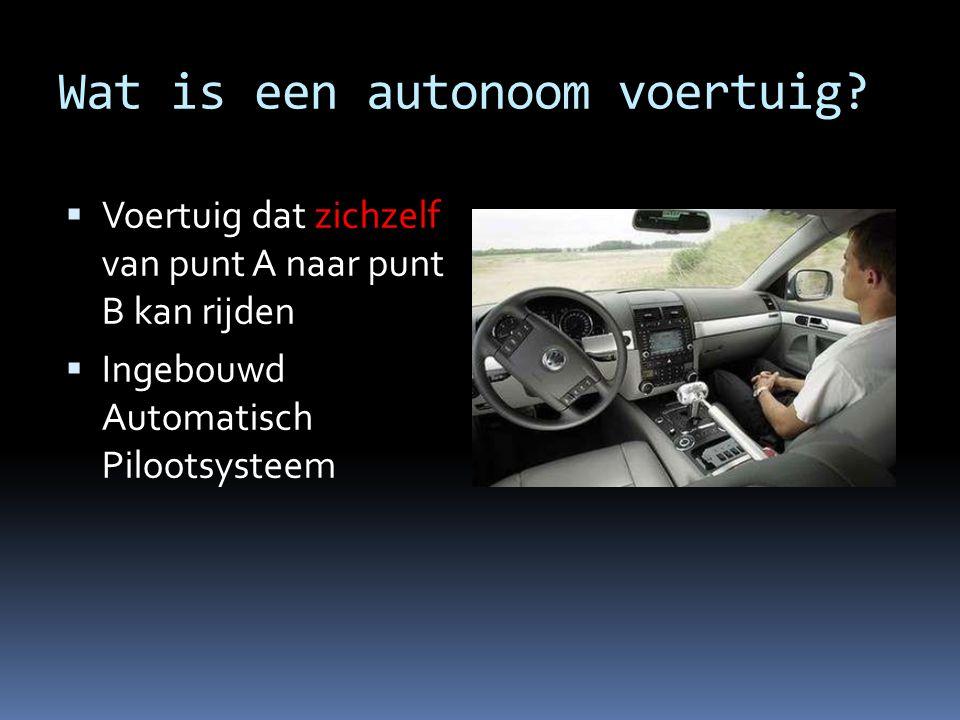 Wat is een autonoom voertuig