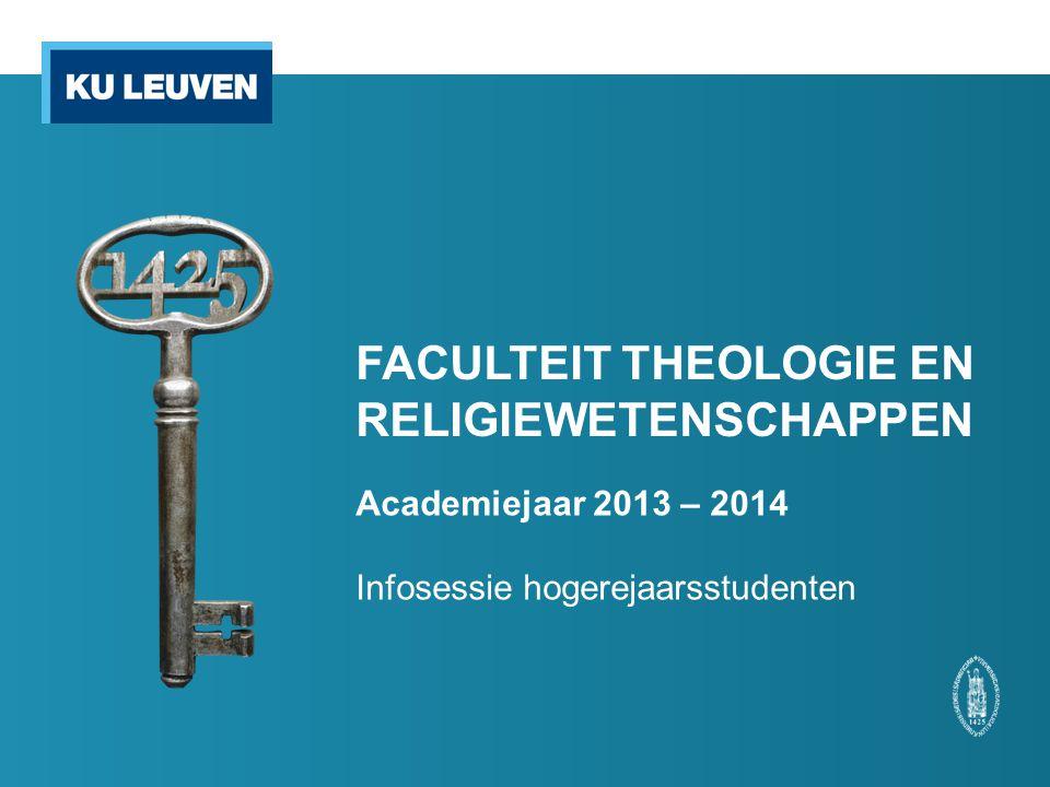 FACULTEIT THEOLOGIE EN RELIGIEWETENSCHAPPEN