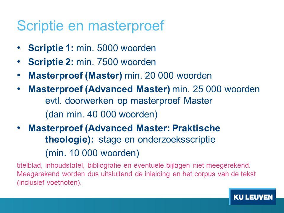 Scriptie en masterproef
