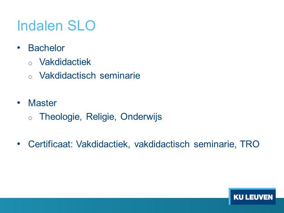 Indalen SLO Bachelor Vakdidactiek Vakdidactisch seminarie Master