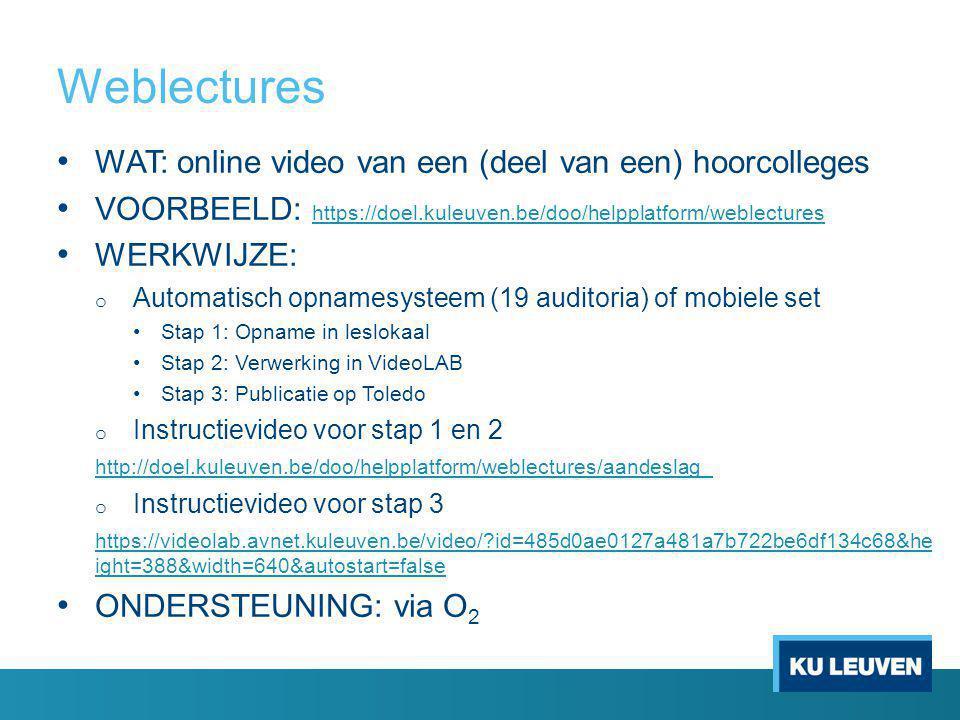 Weblectures WAT: online video van een (deel van een) hoorcolleges