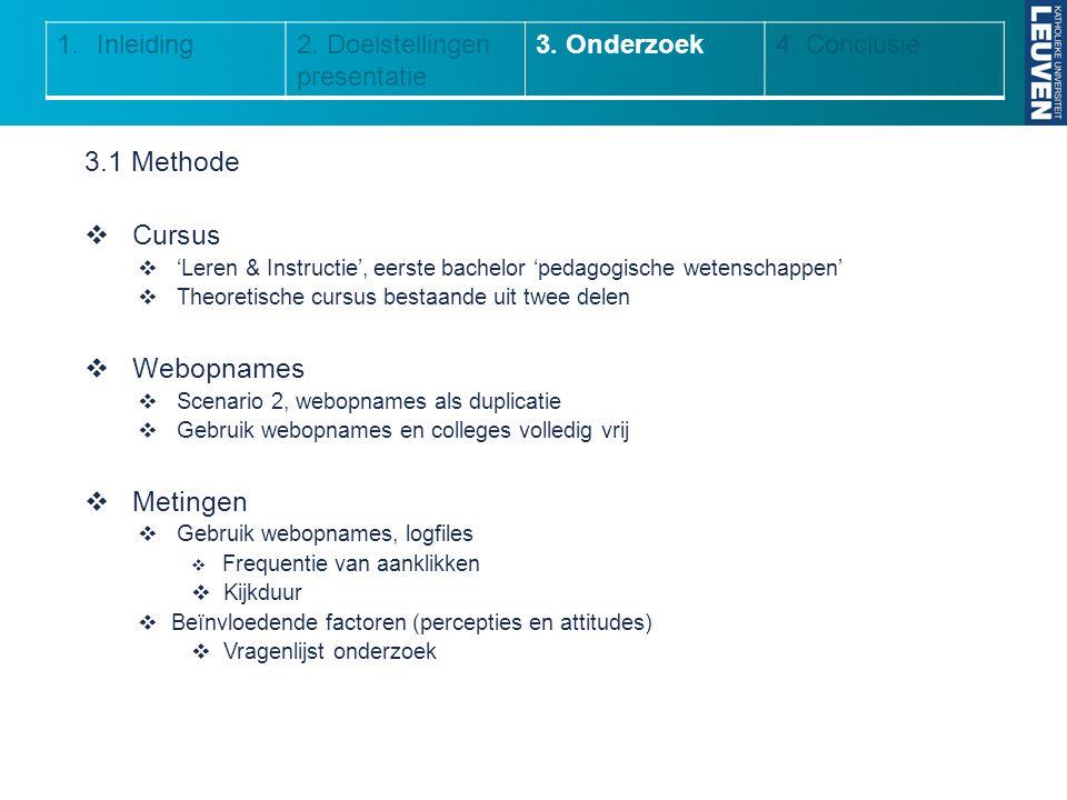 3.1 Methode Cursus Webopnames Metingen Inleiding
